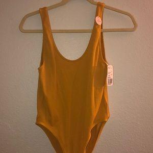 Seamless mustard bodysuit
